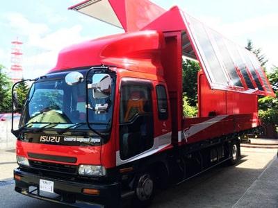 太陽光搭載ステージトラック